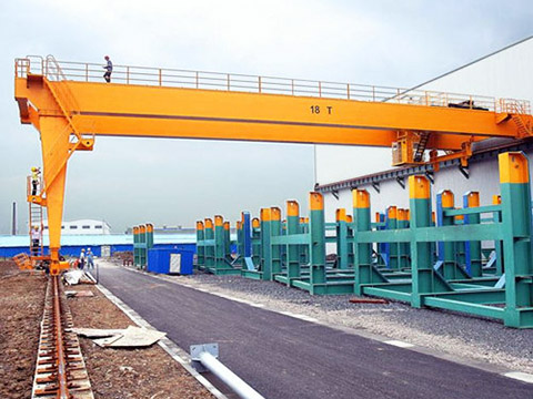 semi gantry crane with double girder for sale