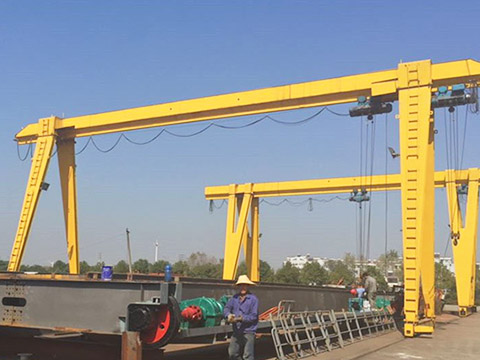 outdoor single girder gantry crane sales
