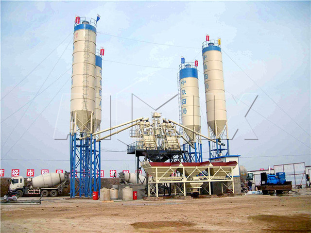 Stationary Concrete Batching Plant For Sale in China